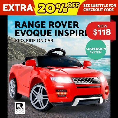 RIGO Kids Ride-On Car Toys RANGE ROVER EVOQUE Inspired SUV Sport Electric Black