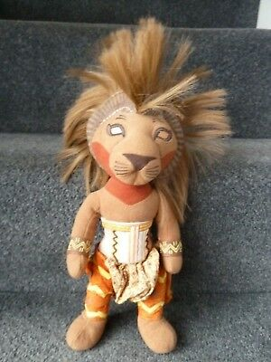 """Disney Lion King Simba Soft Plush Toy From The Broadway Musical approx 13"""" Tall"""