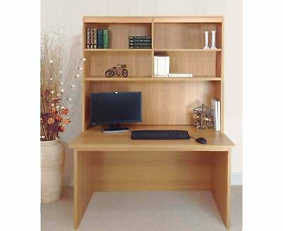 R White Home Office Freestanding Desk with Overshelving