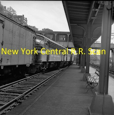 New York Central Railroad (Nyc) Original B&w Negative Engine 1696 Glenwood 1962
