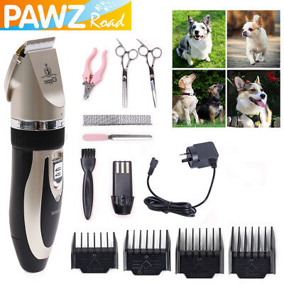 Pet Dog Cat Electric Nail Kit Clipper Grooming Trimmer Mute Rechargeable Shaver