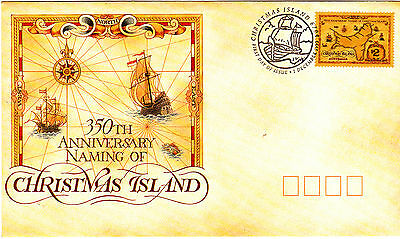 1993 Naming of Christmas Island 350th Anniversary FDC