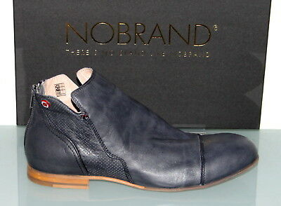 NOBRAND LEDER STIEFELETTE Boots PACIFIC 2 Grey Made in