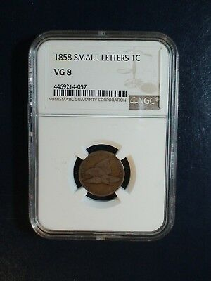 1858 small Letters Flying Eagle Cent NGC VG8 1C Coin PRICED TO SELL QUICKLY!