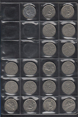 1924-2006 Canada 5 Cents Coin Collection Of 83 In Album