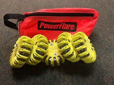 5 Power Flare Soft Pack Safety Lights USED LED