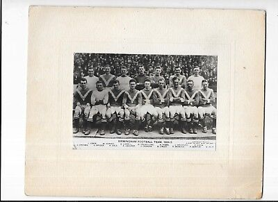 Press photograph Of Birmingham City Football Club Team Group 1924-25 Mounted