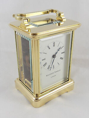 Excellent Matthew Norman 8 Day Carriage Clock - Fully Cleaned And Serviced