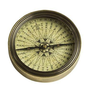 G496: Antique Baroque Table Compass, Compass, Brass patinised