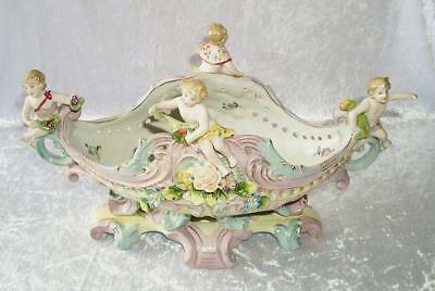 G172: Baroque Jardiniere with Putto, Sumptuous Centerpiece in Nostalgia Style