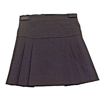 FAB NEW GIRLS EX BHS NAVY DROP WAIST PLEATED SCHOOL SKIRT AGE 3-16 years (AA8)