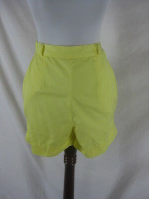 Vtg 50s 60s Sears Roebuck Kerry Brooke Yellow Womens Vintage Shorts W 28