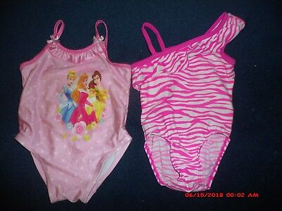 2 Girl's Children's Place/disney Princess Multi-Color  Swimsuits~Size 2 T