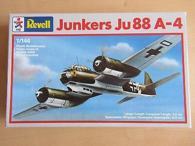 TOP!!! REVELL 4138 Junkers Ju 88 A-4 1:144 in OVP!!!