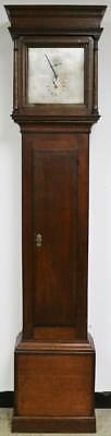 Antique C1820 English 8 Day Solid Oak Cottage Precision Regulator Longcase Clock