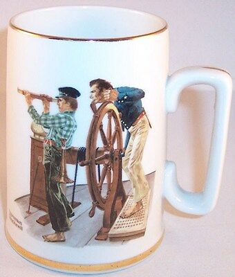 "NEW The Norman Rockwell Museum ""River Pilot"" Collectible Mug Tankard 1985"