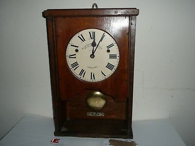 Antique, Blick Time Recorder, Clock Only. Working Order With Original Key.