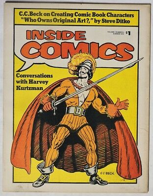 S492. INSIDE COMICS #2 Fanzine w/ Articles by C.C. BECK & STEVE DITKO (1974) ~