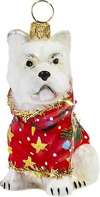 Westie in Ugly Christmas Sweater Dog Polish Tree Ornament West Highland Terrier