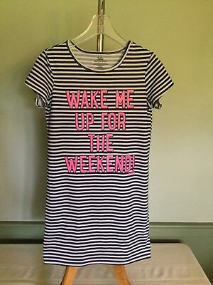 """Justice """"Wake Me Up For The Weekend"""" Nightgown - NWOT - Size 10"""