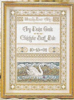 Just CrossStitch - HAPPILY EVER AFTER - Wedding Sampler, c2001, OOP