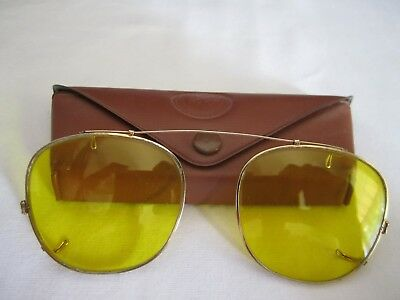 Ray-Ban Yellow Snap On Shooters Glasses with Case