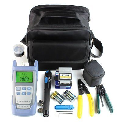 Fiber Optic FTTH Tool Kit with FC-6S Fiber Cleaver and Optical Power Meter + Bag