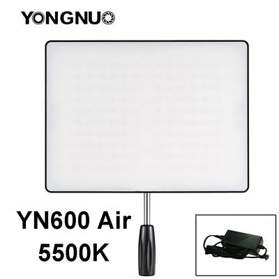 Yongnuo YN600 Air Ultra Thin SMD LED Video Flash Light 5500K + AC Charger US