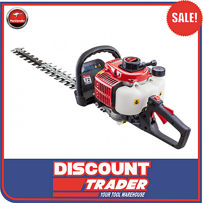Parklander Petrol 26cc Hedge Trimmer with 180 Degree Rear Swivel Handle PHT-600B
