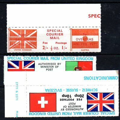 Labels From Great Britain ,postal Strike 1971,.
