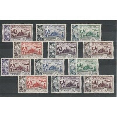 Giro Colonies French 1954 Anniversary Liberation 12 Val Mlh MF18754