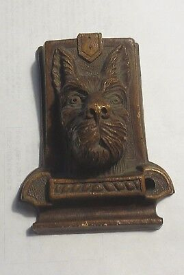 Vintage OrnaWood Desk Accessory - Scottish Terrier Scottie Pencil Holder