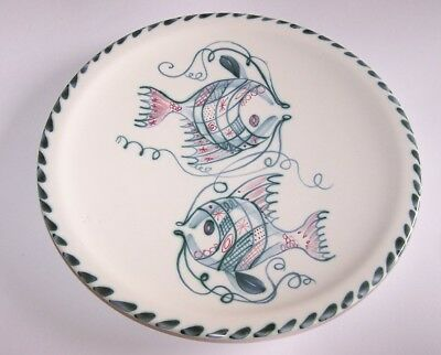 Rye Pottery ? Hand Painted Fish Design Plate