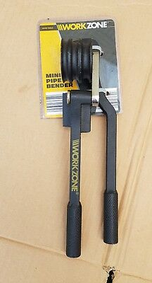 BRAND NEW WORKZONE MINI PIPE BENDER 6mm 8mm 10mm UP TO 180°