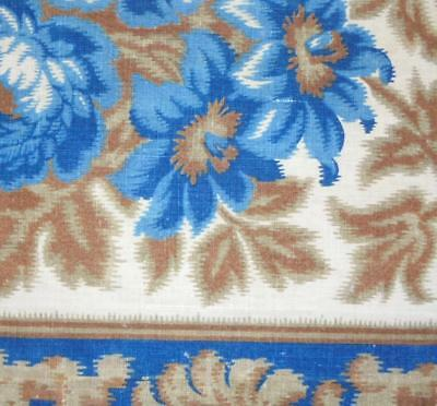 BEAUTIFUL FRAGMENT MID 19th CENTURY FRENCH LINEN & COTTON INDIENNE c1850 REF