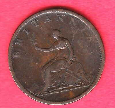1806 Great Britain Halfpenny ~ Very-Good+ Condition ~ L@@K Very Nice Coin!