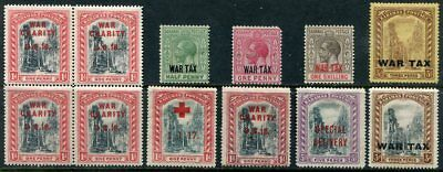 BAHAMAS   Very  Nice  Mint  Hinged  WAR TAX STAMPS  UPTOWN 39438