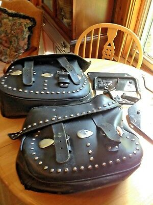 Softail Leather Saddle Bags With All Hardware  86-99