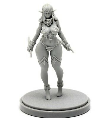 30mm Resin Kingdom Death Dark Elf Variant Unpainted WH305