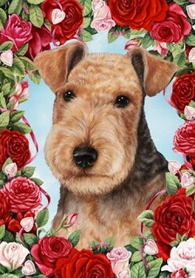 Large Indoor/Outdoor Roses Flag - Lakeland Terrier 19234