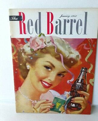 Jan. 1951 The Red Barrel, Drink Coca Cola Magazine. The Lady At Party
