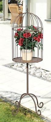 G2341: Cottage Flower Stand Deco Cage, Birdcage with Frame, Flower Cage