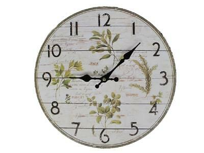 G60: Wall Clock Herbs The Provonce, Kitchen Watch Herbs, Country House