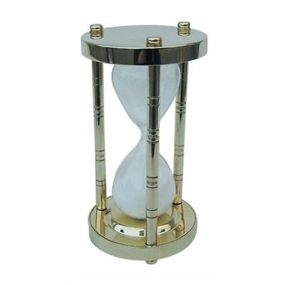 G4135: Large Hourglass, Bell Clock, Hour Clock, Polished Brass 15 Minutes