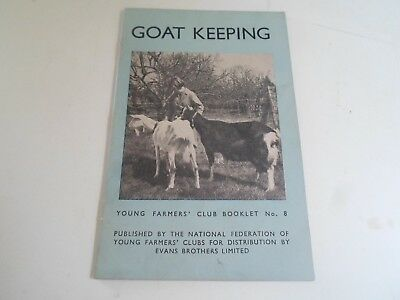 Vintage+Illustrated GOAT KEEPING Young Farmers Club Booklet No 8 Circa 1942