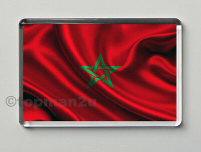New, Quality Fridge Magnet, Morocco National Flag, Patriotic, Moroccan