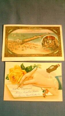 HEINZ VICTORIAN TRADE CARD & POST CARD Pickles Catsup Atlantic City Pier 1911