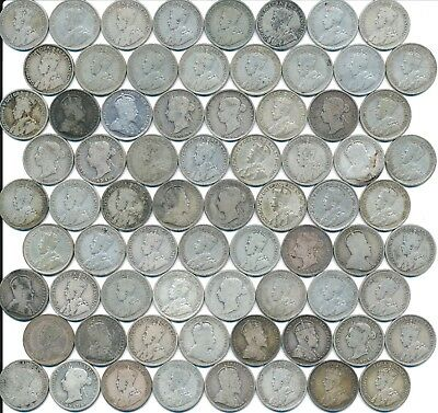 72 Old Silver Twenty-Five 25 Cent's Canada 1872-1936