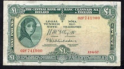1 Pound From Ireland 1957
