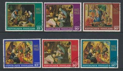 Togo - 1968, Xmas Paintings set - CTO - SG 621/6